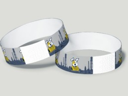graphic design pints for paws wristband