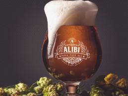 logo design Alibi IPA