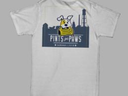 logo design pints for paws t-shirt