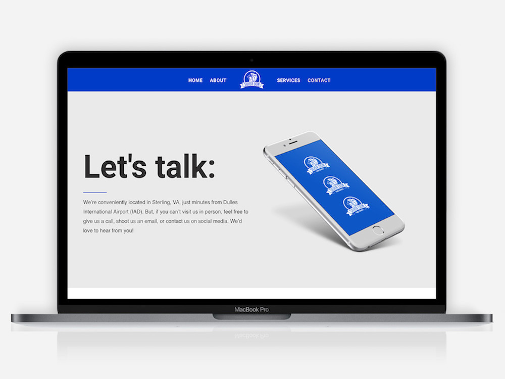 website design silver lion contact