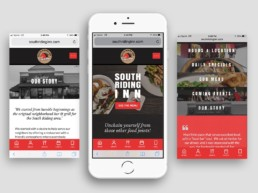 website redesign phone south riding inn