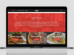 website redesign about south riding inn