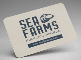 sea farms brand identity business cards