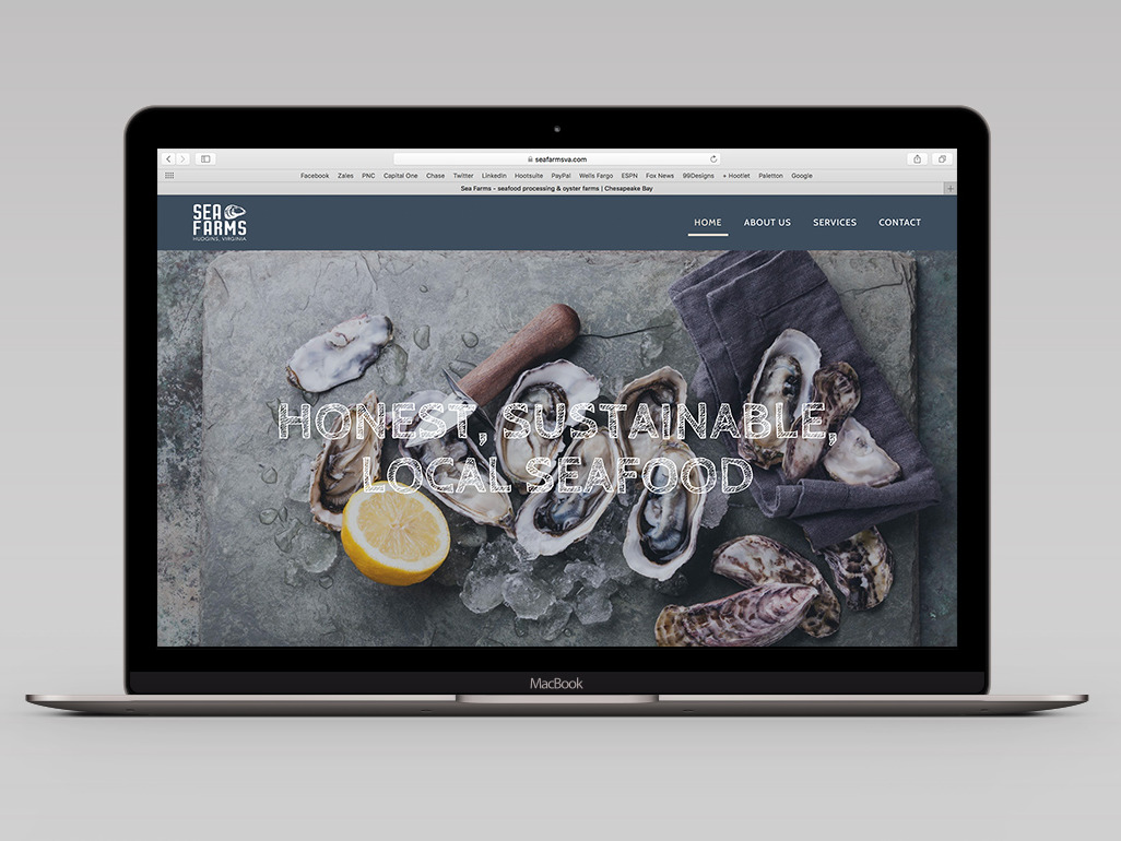 sea farms brand identity website design