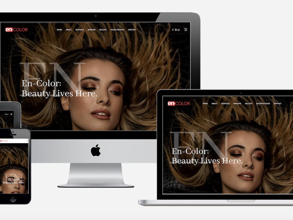 website redesign salon encolor