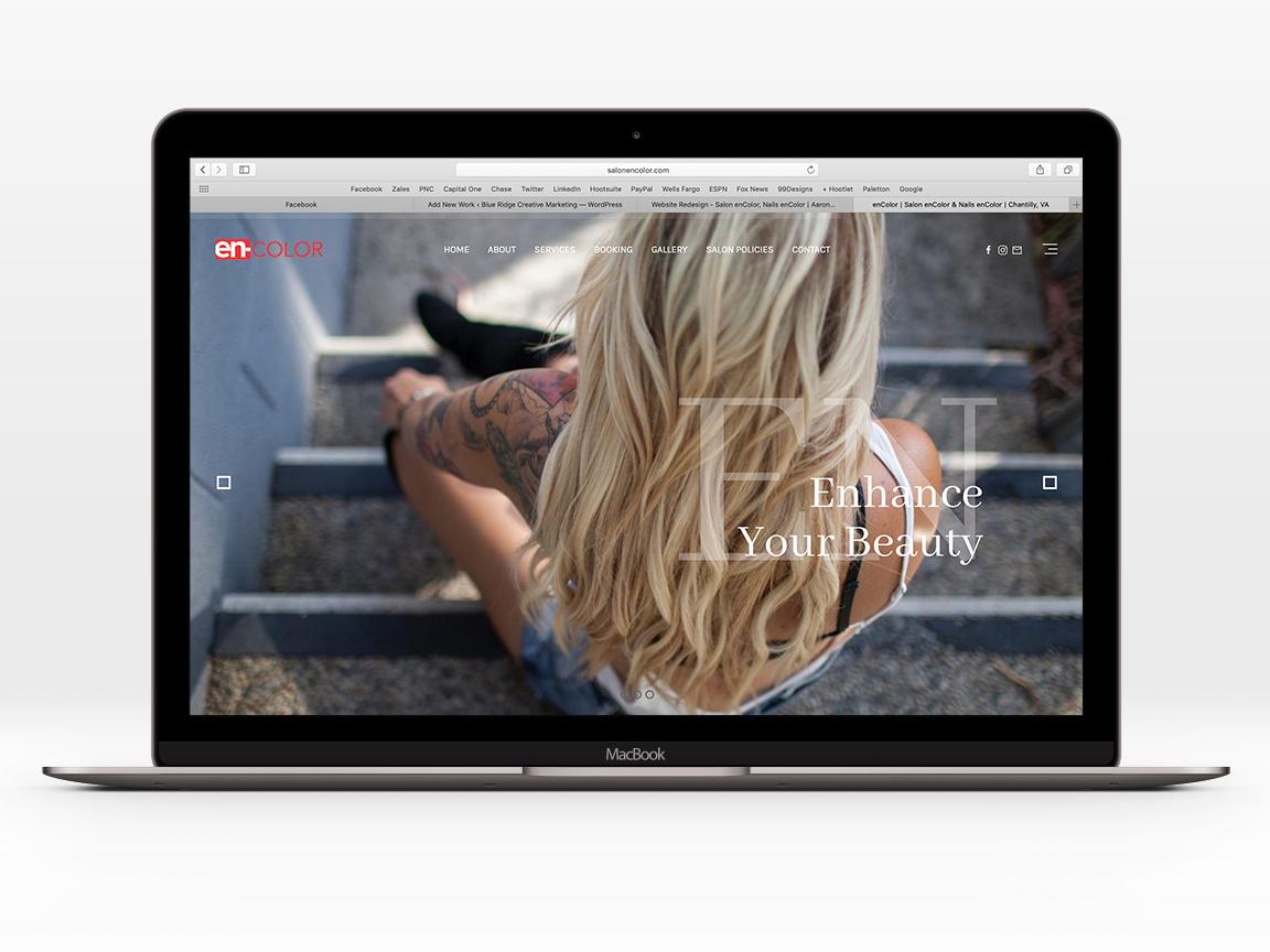 enColor website redesign