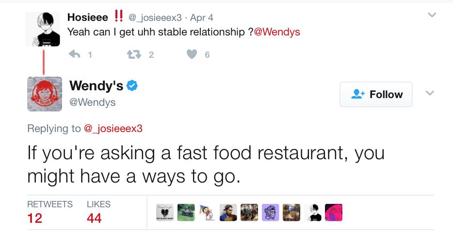 social media brand Wendys